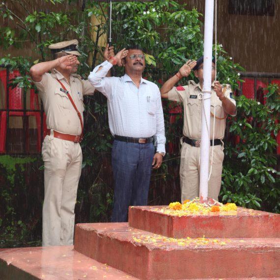 PWD Minister, Shri Deepak Pauskar attended Independence Day celebration at Dharbandora on August 15, 2019.