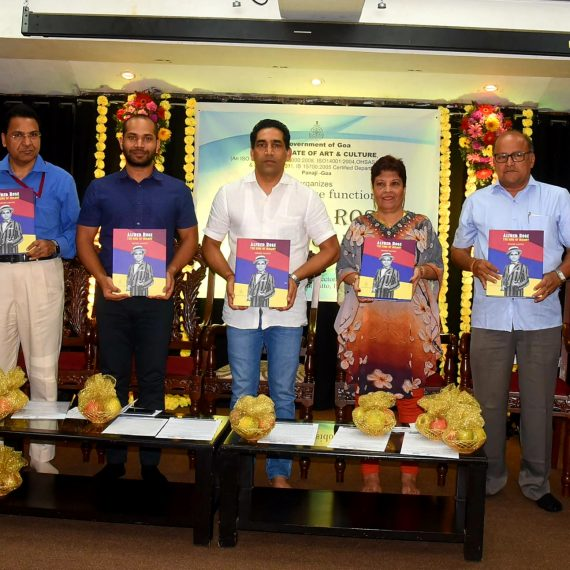 Minister for Art & Culture released Book on Late Alfred Rose at Panaji on Aug. 21, 2019.