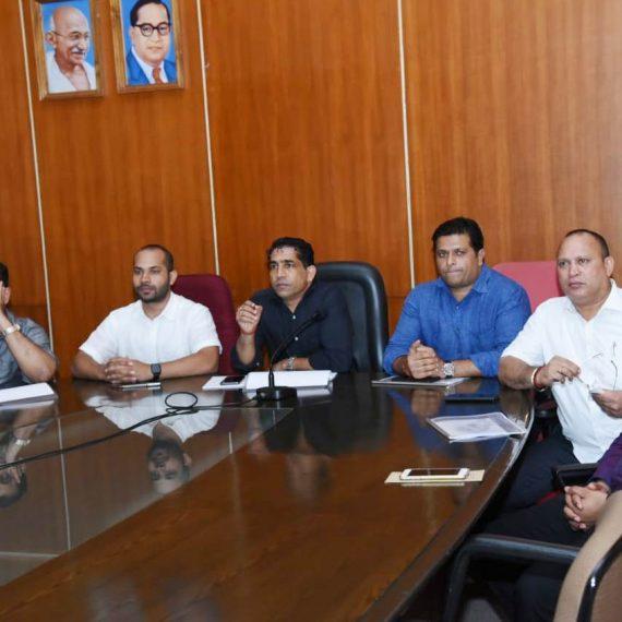 Art & Culture Minister attended meeting regarding Ravindra Bhavan of Mapusa held at Porvorim on July 8, 2019.