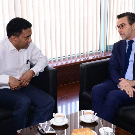 गोंयचे मुखेलमंत्री डॉ. प्रमोद सावंत हाणीं 8 नोव्हेंबर, 2019 ह्या दिसा पर्वरी हांगा पोर्तुगालचे राजदूत श्री. कार्लोस जोस डी पिन्हो ई मेलो परेरा मार्क्स हांची भेट घेतली.