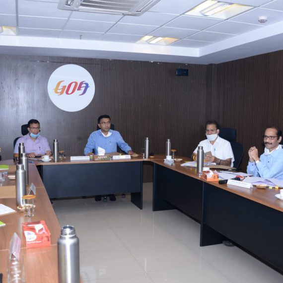 Chief Minister Dr. Pramod Sawant chaired a meeting today along with Minister for Health Shri. Vishwjeet Rane with the officials of Directorate of Skill Development and Entrepreneurship, Govt of Goa.