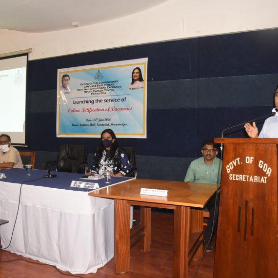 ४ जून २०२० ह्या दिसा मुख्यमंत्री डॉ. प्रमोद सावंत हानी पर्वरी हांगा ऑनलाईन जायरातीची सूचना सुरु केली