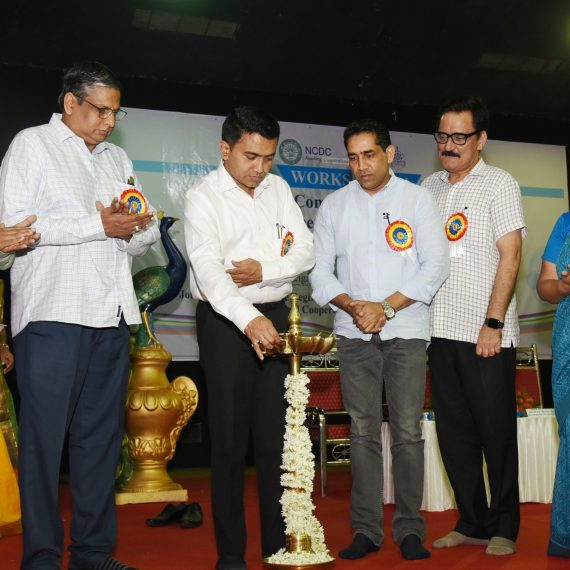 "Chief Minister inaugurated the Workshop on ""Strategy for Comprehensive Development of Co-operative Sector in Goa for a New India by 2022"" at Taleigao on Jul. 9, 2019. (3)"