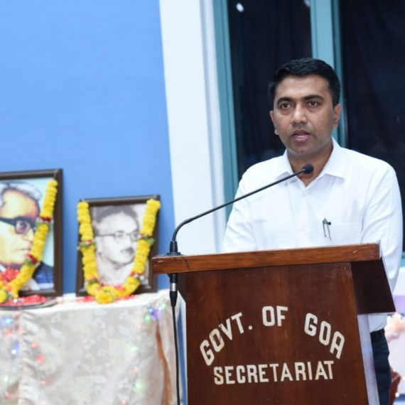 Chief Minister paid tributes to the Martyrs on the occasion of Goa Revolution Day observed at Porvorim on June 18, 2019.