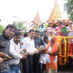 Chief Minister pulled the Rath to mark the Rath Yatra of Shree Jagannath at Miramar on Jul. 4, 2019.