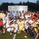 Group Photo show Chief Minister, Dr. Pramod Sawant and MLA, Shri Joshua D'souza along with FC Goa Team Winners of 16th Edition of Goa Police Football Cup 2019 at Duler, Mapusa on September 19, 2019.