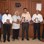 "Chief Minister released a Book Titled ""Goa Devmandal Unnayan ani Sthalantar"" at Assembly Complex, Porvorim on July 25, 2019."
