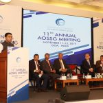 """Chief Minister, Dr. Pramod Sawant addressing at the """"11th ANNUAL AOSSG MEETING"""" of asian-Oceanian Standard Setters Group at DonaPaula on November 12, 2019."""
