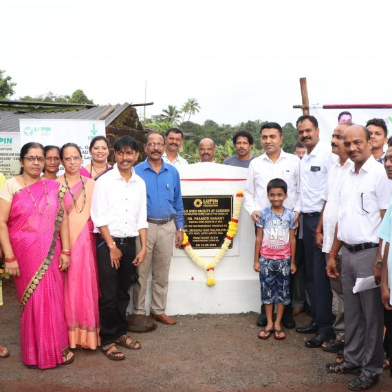 Chief Minister Dr. Pramod Sawant seen after Laying of Foundation Stone for Bus Shed Facility at Kudnem on September 15, 2019.