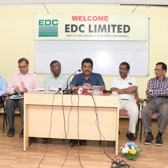Press-conference by Chairman of EDC at EDC, Panaji on September 24, 2019.