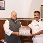 Governor with DIG, District Commander at Raj Bhavan, Donapaula on November 12, 2019.