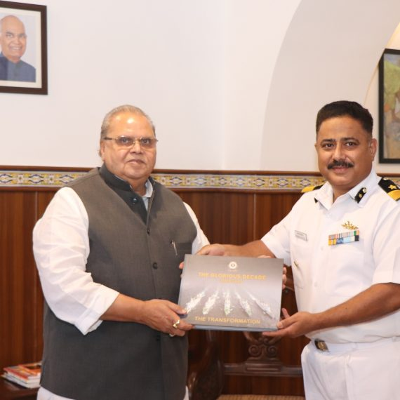 Governor with DIG, District Commander at Raj Bhavan, Donapaula on November 12, 2019.