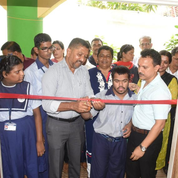 Minister for Social Welfare, Shri Milind Naik Inaugurating 'Swayam Day Care Centre at Sanjay Centre for Special Education, Porvorim on August 20, 2019. Also seen are Chairman, Sanjay Centre for Special Education, Shru Guruprasad Pawaskar, Member Secretary, Sanjay Centre for Special Education, Smt. Sheru Shirodkar and others.