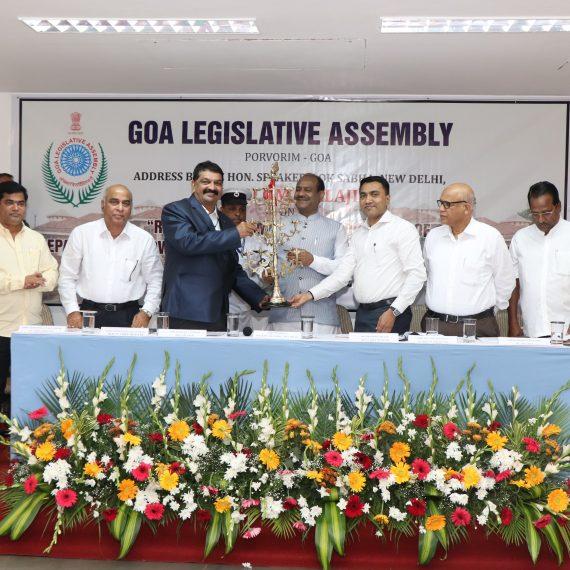 Speaker of Lok Sabha interacted with Members of Goa Legislative Assembly at Porvorim on November 8 ,2019.