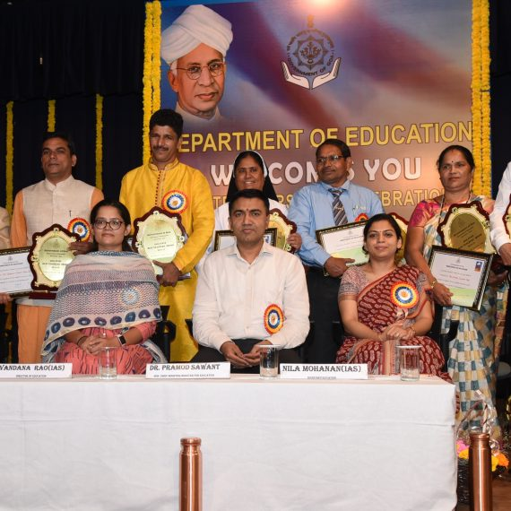 Chief Minister attended 58th Teachers' Day celebration at Panaji on Sept. 13, 2019.
