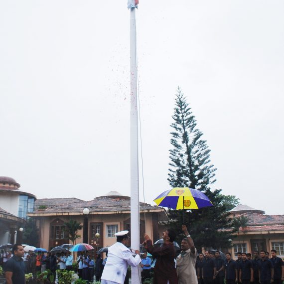 Speaker of Goa Legislative Assembly, Shri Rajesh Patnekar unfurled the National Flag in the campus of Assembly Complex on the occasion of Independence Day Celebration at Porvorim on August 15, 2019.