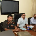 Press-conference by Addl. Collector-I, North Goa at Panaji on Sept. 25, 2019.
