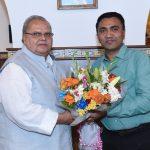 Chief Minister called on Governor at Raj Bhavan, Donapaula on Nov. 19, 2019.