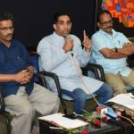 Press-conference by Minister for Art & Culture at Patto Panaji on Sept. 25, 2019.