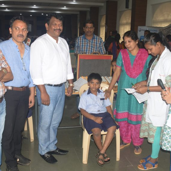 RDA Minister inaugurates Eye Check-Up Camp at Sanjay Centre for Special Education Goa, Porvorim on Aug. 1, 2019.