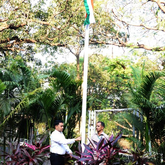 Chief Minister, Dr. Pramod Sawant unfurled the National Flag on the occasion of India's Republic Day celebrations at his Official residence, Altinho Panaji on January 26, 2020.