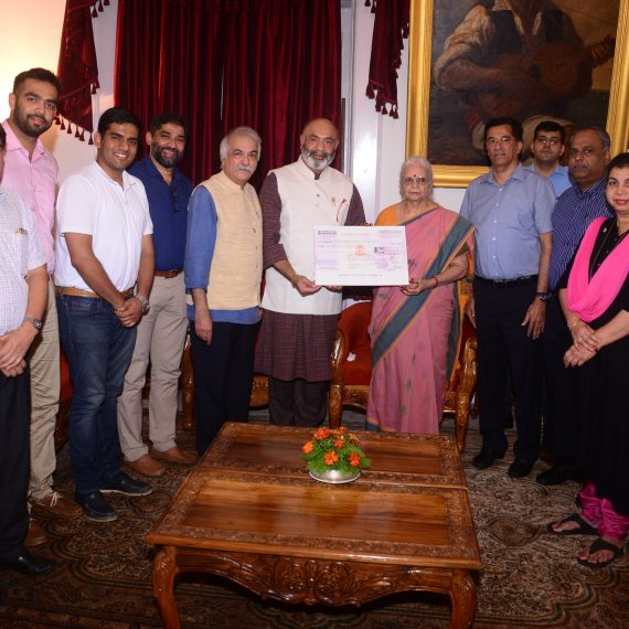 Indian Red Cross Society - Goa Contributes Rs. 1.50 lakhs towards the Kolhapur Relief Fund.