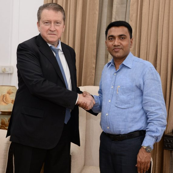 Ambassador of Russian Federation to India called on Chief Minister at Altinho Panaji on Nov. 21, 2019