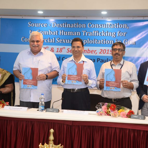 Director General of Police, inaugurated the 'Source – DestinationConsultation to Combat Human Trafficking for Commercial Sexual Exploitation in Goa' at Donapaula on Sept. 17, 2019.