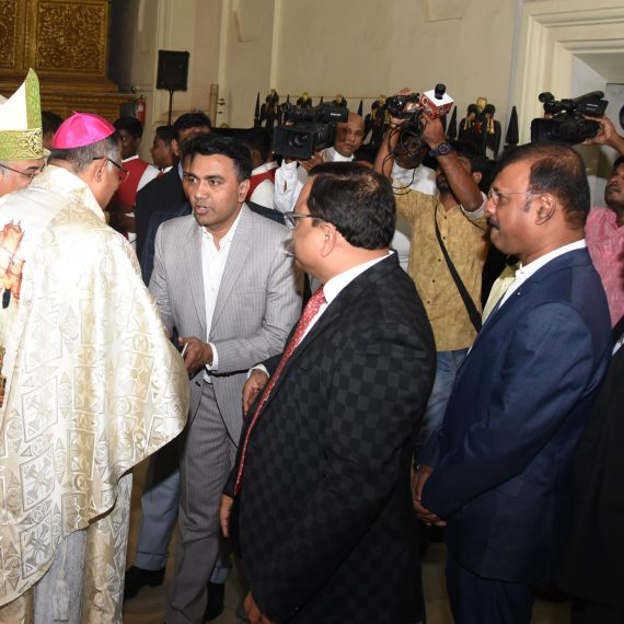 Chief Minister attended the Feast Mass of Saint Francis Xavier at Old Goa on Dec. 3, 2019.