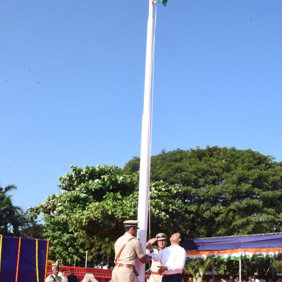 Chief Minister, Dr. Pramod Sawant attended the Goa Liberation Day celebration at Campal parade ground on December 19, 2019.