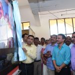 Chief Minister, Dr. Pramad Sawant unveiling the Portrait of Former Chief Minister of Goa, Late Manohar Parrikar to mark the inauguration of Manohar Parrikar Memorial Hall at Sanjay Centre for Special Education, Porvorim on Dec.4, 2019.