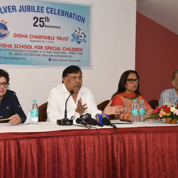 Press-conference by Chairman of Disha Charitable Trust at Panaji on Jul. 27, 2019