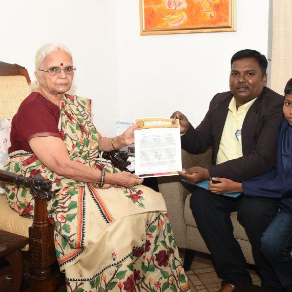 President of Telangana Kala Parishath called on Governor of Goa at Raj Bhavan, Donapaula on Jul 29, 2019