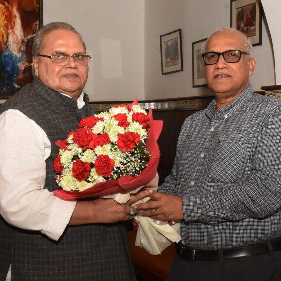 Opposition Leader called on Governor of Goa at Raj Bhavan, Donapaula on Jan. 22, 2020.