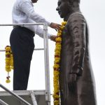 Dy. Chief Minister paid tributes to Goa's first Chief Minister, Late D.B. Bandodkar at Porvorim on Aug. 12, 2019.