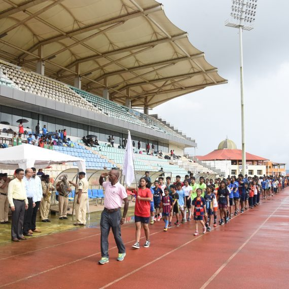 Chief Minister declared open the 52nd State Level Athletics Championship 2019 at Bambolim on Aug. 16, 2019.