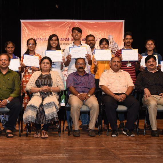 Inter Collegiate Quiz Competition on Mahatma Gandhi held at IMB, Panaji on Aug. 26, 2019.