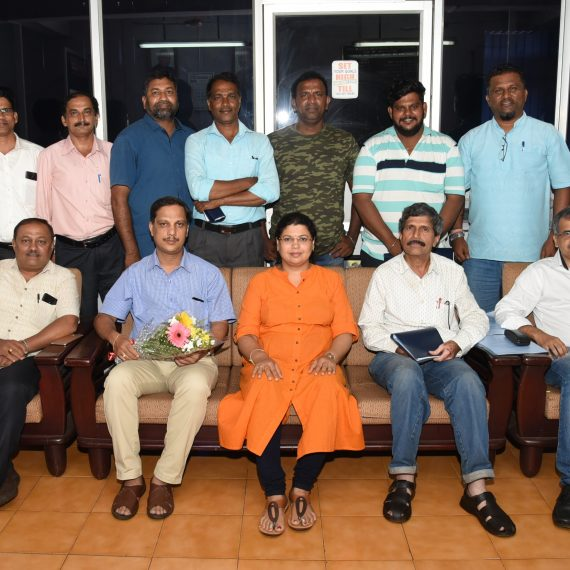 Director of Information and Publicity Smt. Meghana Shetgaonkar is seen with Shri Paresh Prabhu newly elected chairman for Press Accreditation Committee PAC