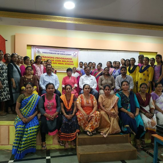 TRAINING PROGRAMME HELD FOR COOK-CUM-HELPERS