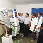 Health Minister inaugurates Microscope at GMC&H, Bambolim on Jul. 3, 2019.