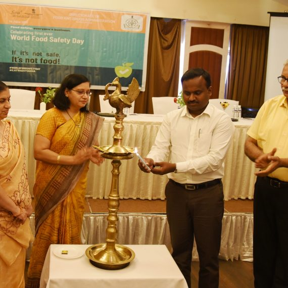 "Health Secretary attends the first ever ""World Food Safety Day"" celebration at Panaji on Jun. 14, 2019."