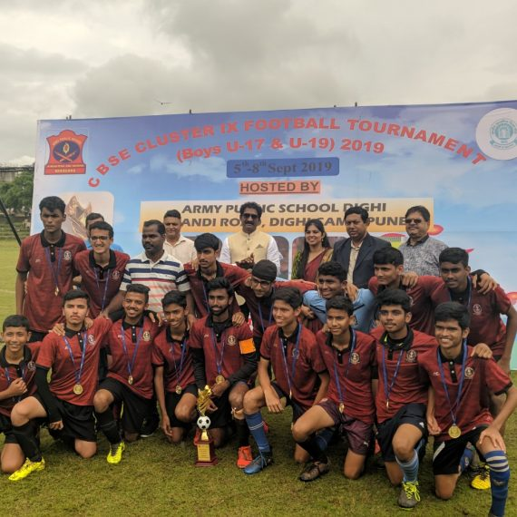 The NCS team will be participating in the CBSE National Football Championship, scheduled at Haryana from 08 -13 November 2019