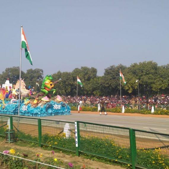 २ जानेवारी, २०२० ह्या दिसा राजपथ, नवी दिल्ली हांगा जालेल्या ७१st प्रजासत्ताक दिनाच्या परेडाक गोव्याच्या समुद्र किनारो गोवा झुडूप दर्शविणारा भाग. या झांजाला जबरदस्त प्रतिसाद मेळलो .