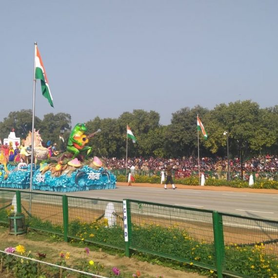 Goa Tableau depicting seashore of Goa took part in the 71st Republic Day Parade held at Rajpath, New Delhi on January 26, 2020. The Tableau received overwhelming response.