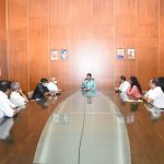 Chief Minister Dr. Pramod Sawant chaired a all party meeting at Secretariat Conference Hall on March 21, 2020. Health Mininster Shri Vishwajit Rane, Revenue Minister Smt. Jannifer Monserrate, Leader of Opposition Shri Digambar Kamat, Former Ministers Shri Ramakrishna alias Sudin Davlikar, Shri Vijay Sardessai, Chief Secretary, Shri Parimal Rai, Secretary Health Smt. Neela Mohanan, and others.