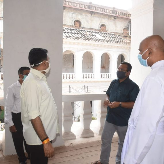 Chief Minister Dr. Pramod Sawant Visited Basilica of Bom Jesus to Inspect the ongoing work of the Archaeological Survey of India