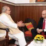 Ambassador of Norway called on Governor of Goa at Raj Bhavan on Dec. 4, 2019