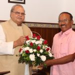 Former Chief Minister of Goa called on Governor of Goa at Raj Bhavan Donapaula on Dec. 4, 2019