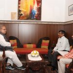 Governor of Goa interacting with the Principal Secretary for Urban Development & Forest, Shri Puneet Goyal, IAS during his courtesy visit at Raj Bhavan, Donapaula on December 5, 2019.