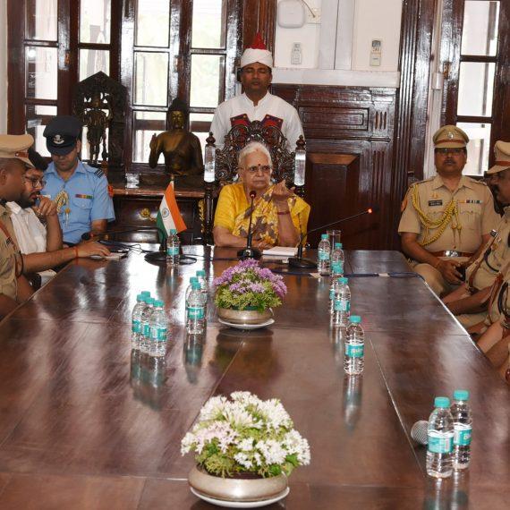 IPS mazz of Sardar Vallabhbhai Patel National Police Academy visited Raj Bhavan Donapaula on Jun. 20, 2019.